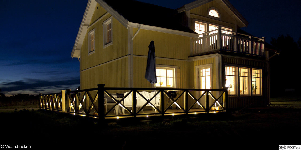 Inredning led belysning altan : Led spottar i takfot | Byggahus.se