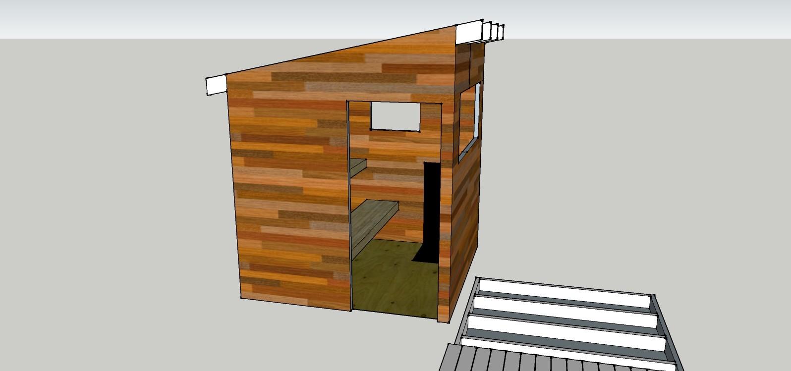 Bygga enkel fristående vedeldad bastu | Byggahus.se