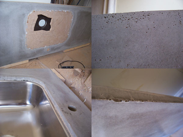 svart betong bänkskiva