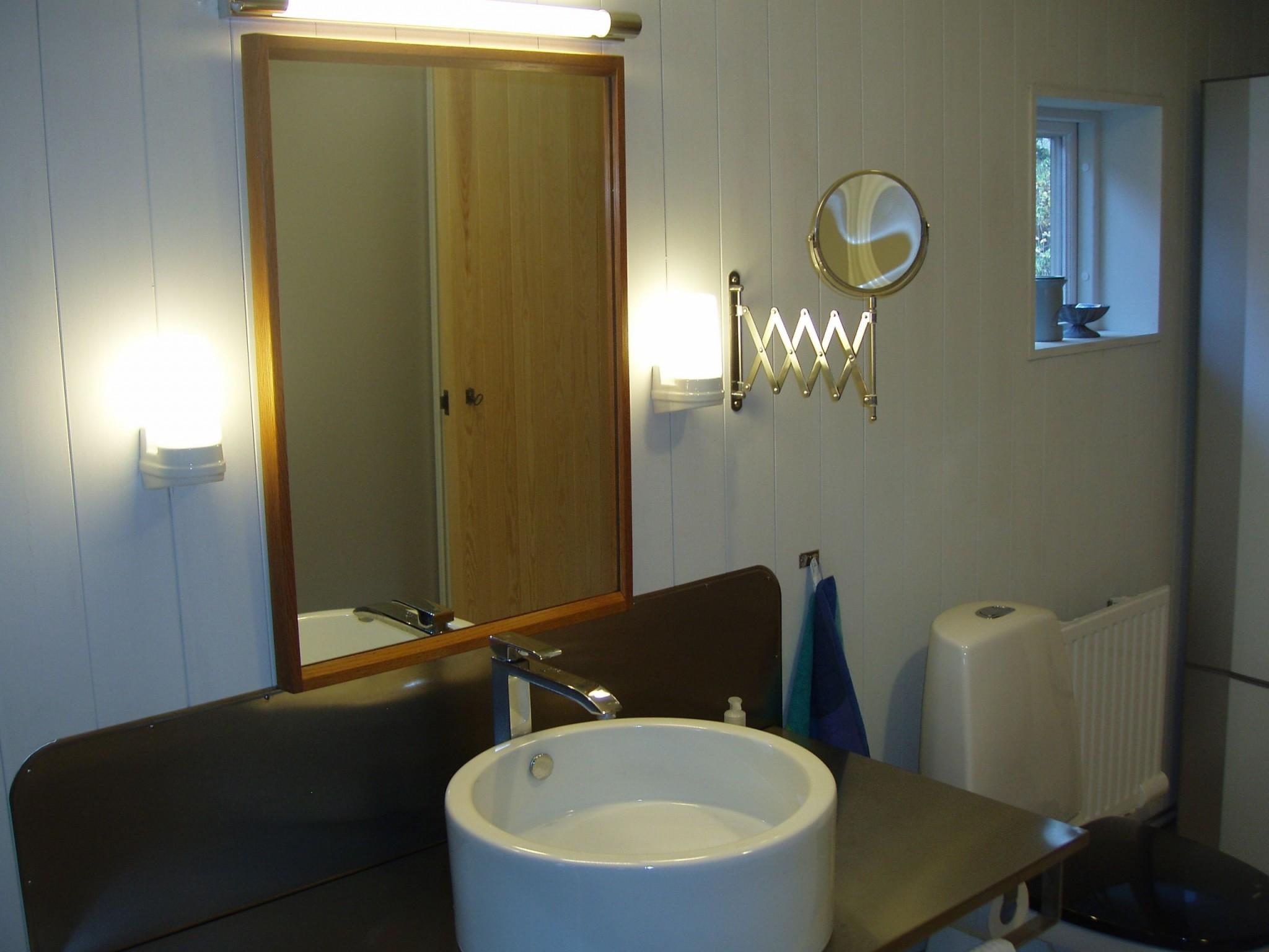 Modernt badrum i gammal stil