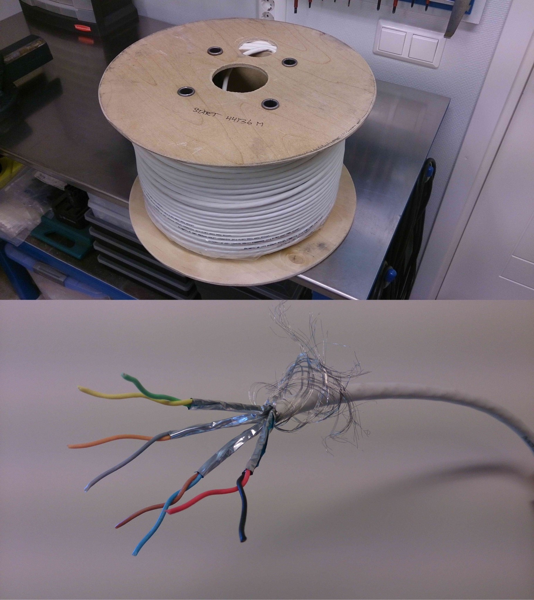 kabel fast installation inomhus