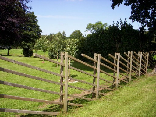 Kombinerad staket/spaljé/pergola
